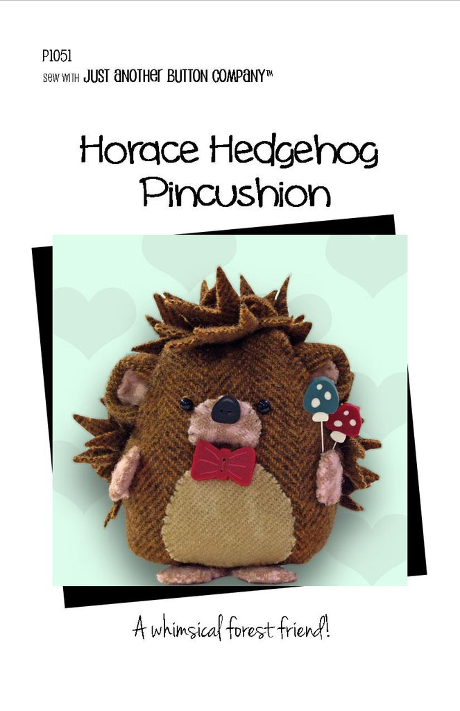 JABC - Pincushion Patterns - Horace Hedgehog