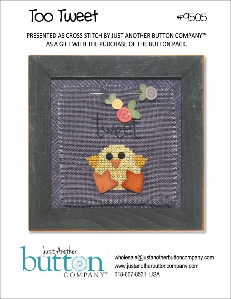 JABC - Cross Stitch Patterns - Too Tweet