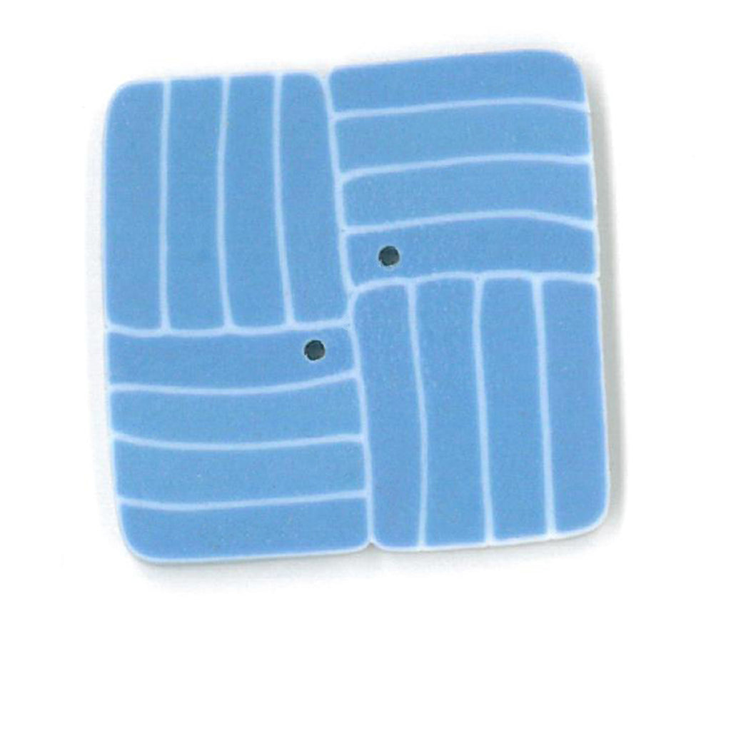 large square - blue & white