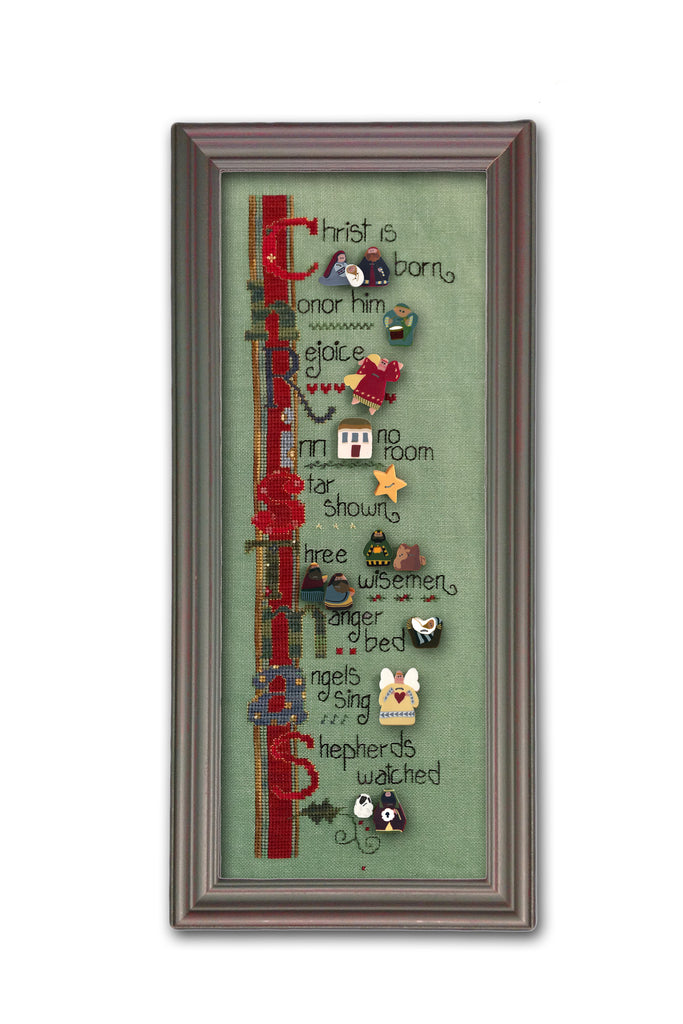 ATH Christmas Tidings cross stitch--button pack only