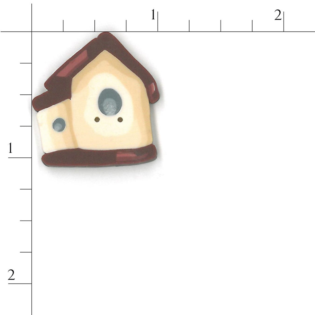 large red roof birdhouse