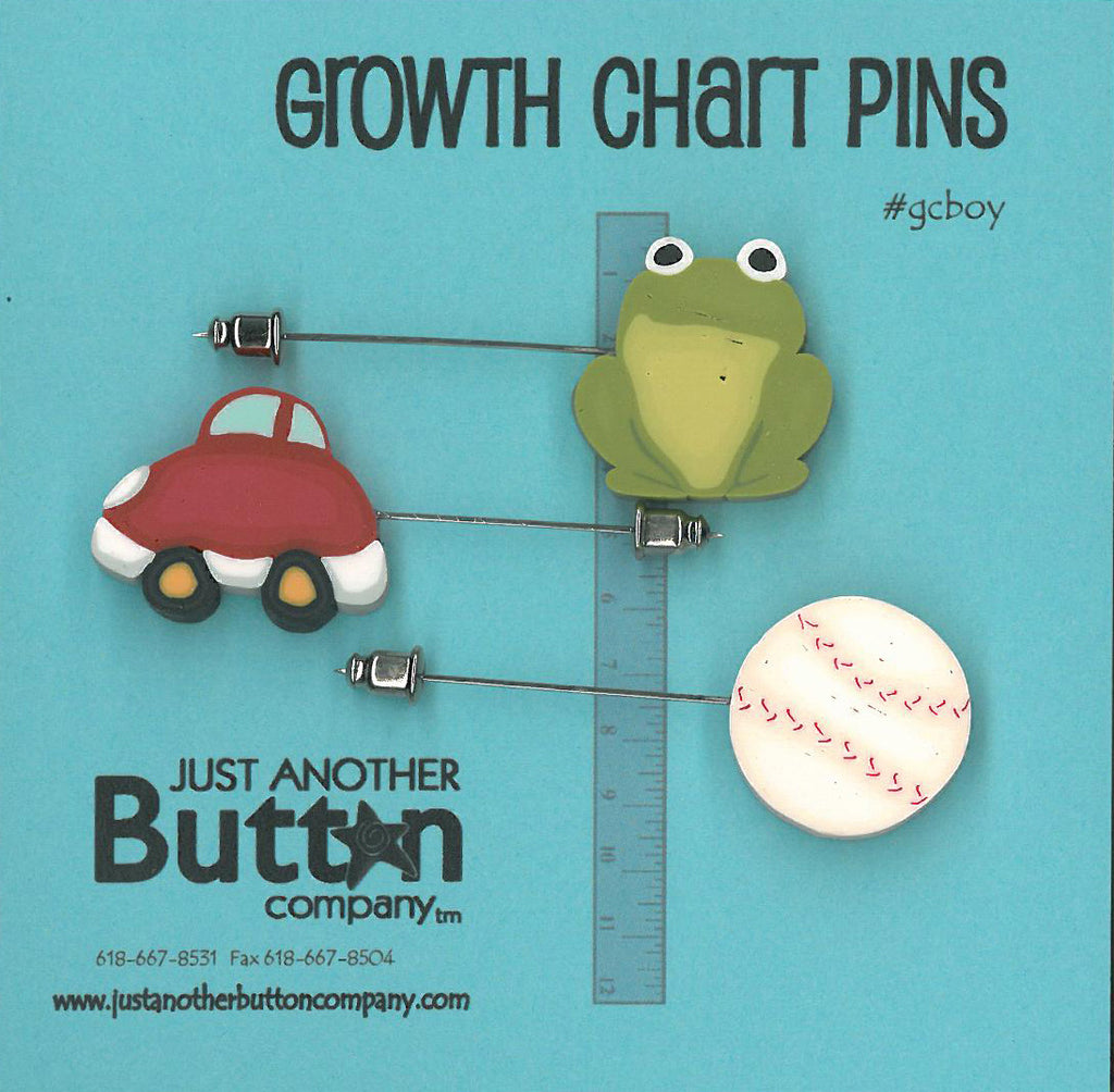 Growth Chart Pins ; Boy