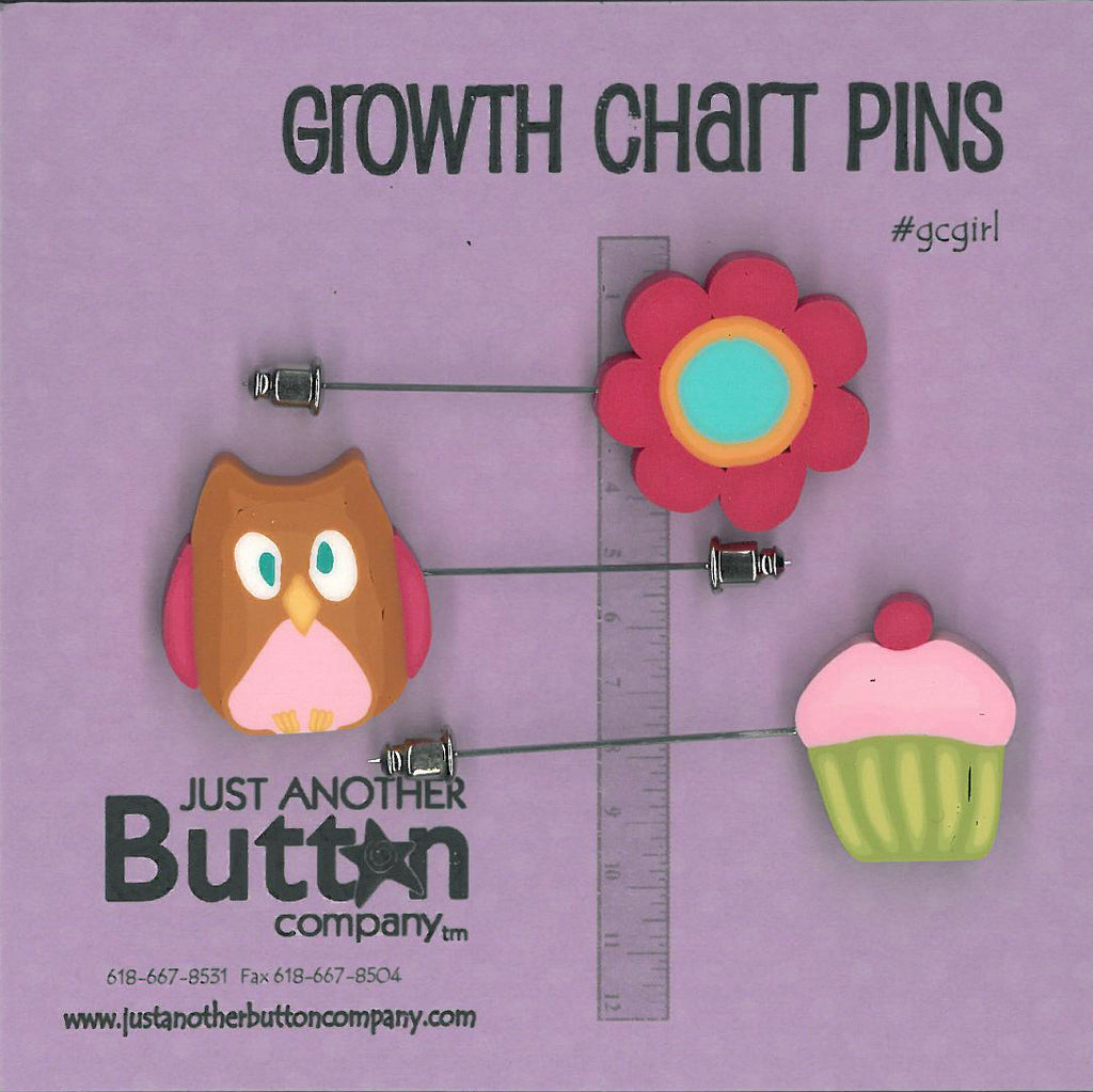 Growth Chart Pins ; Girl