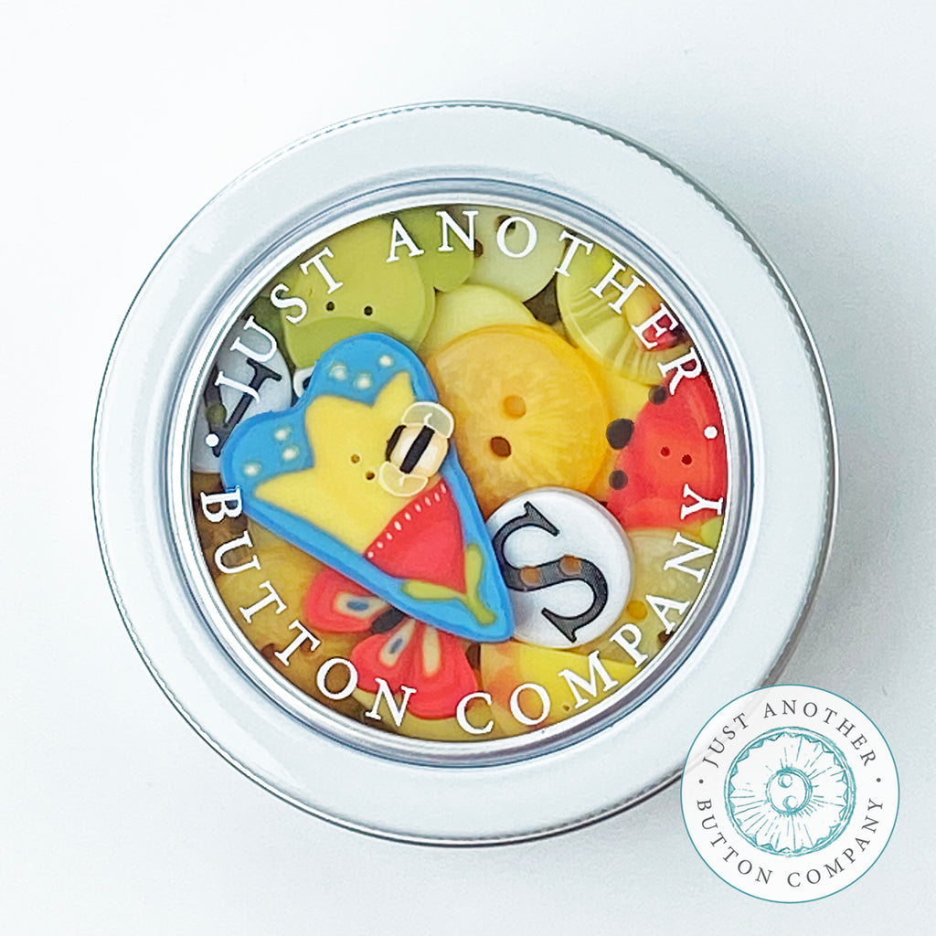 Join Button Lover's Club:  Take Heart Tin + Sprinkler