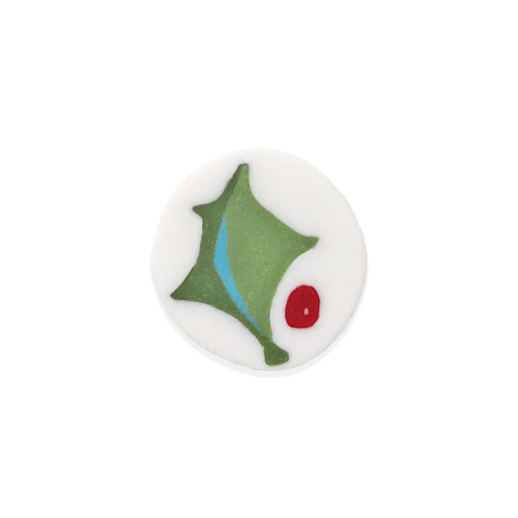 holly ornament bead