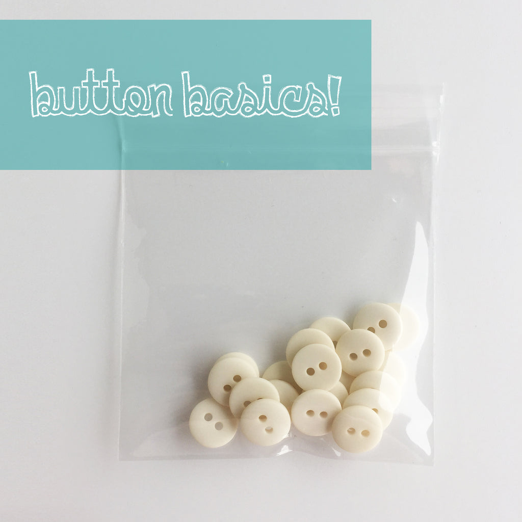 Ivory Hand Dyed Buttons 1/2""