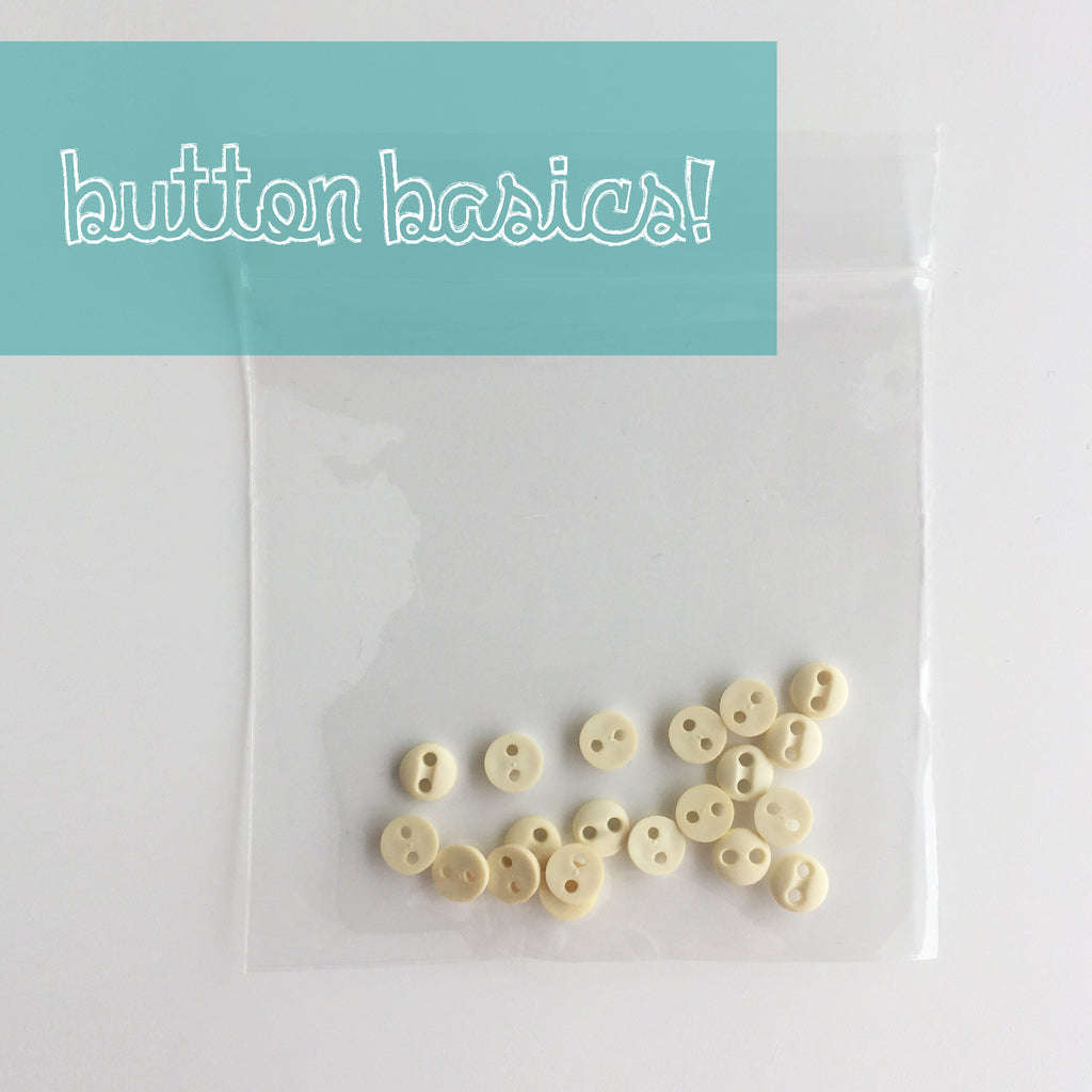 Ivory Hand Dyed Buttons 3/16""