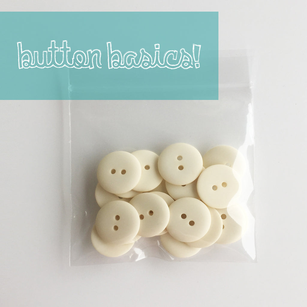 Ivory Hand Dyed Buttons 3/4""