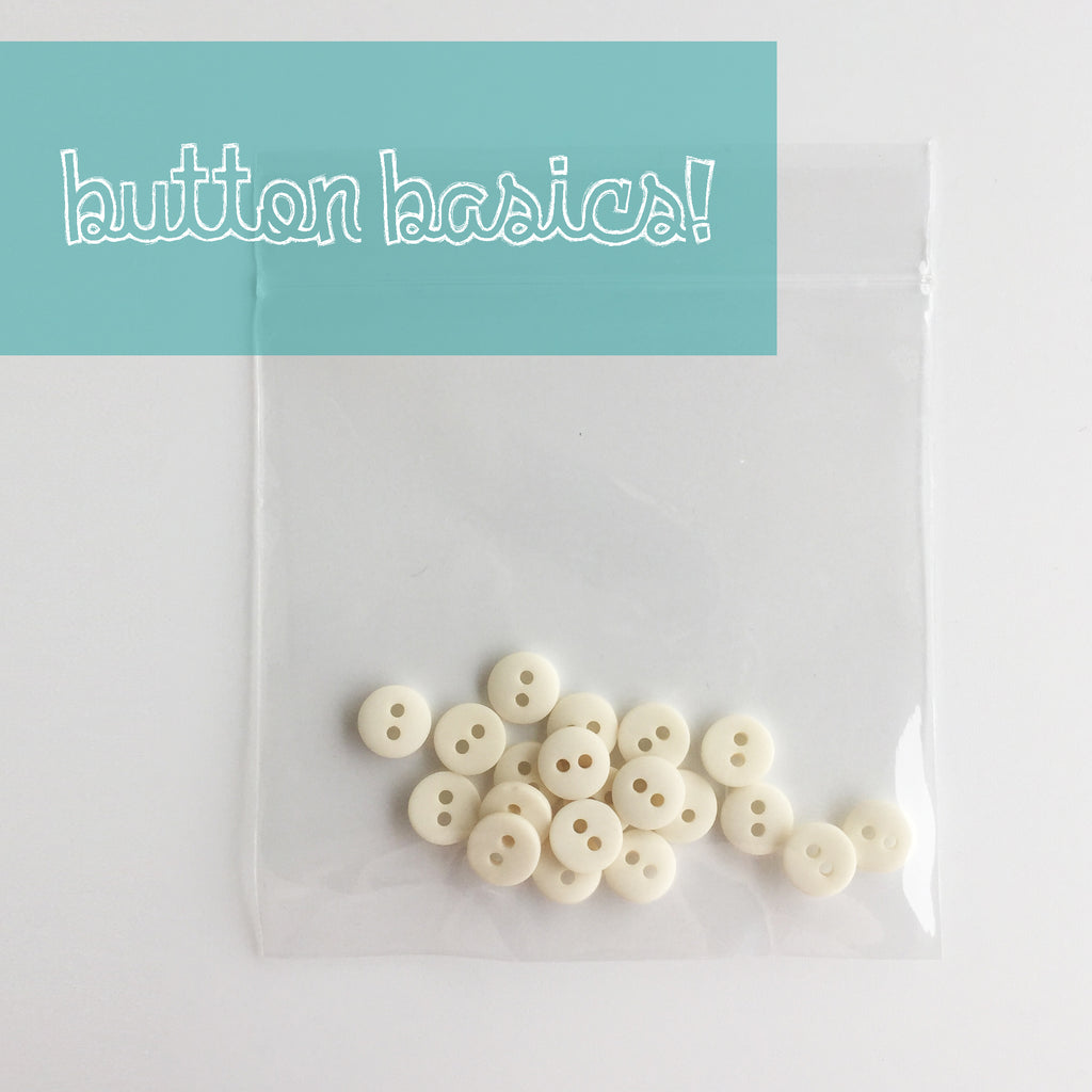Ivory Hand Dyed Buttons 5/16""