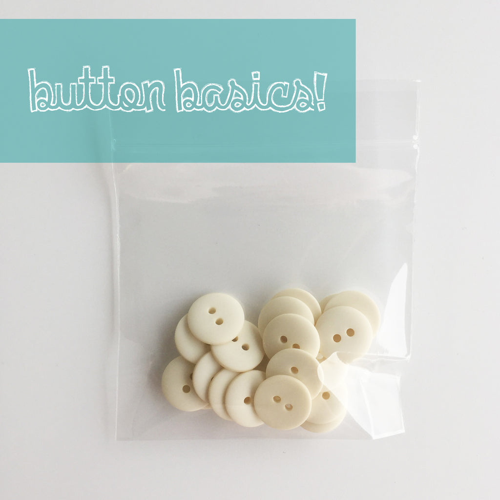 Ivory Hand Dyed Buttons 5/8""