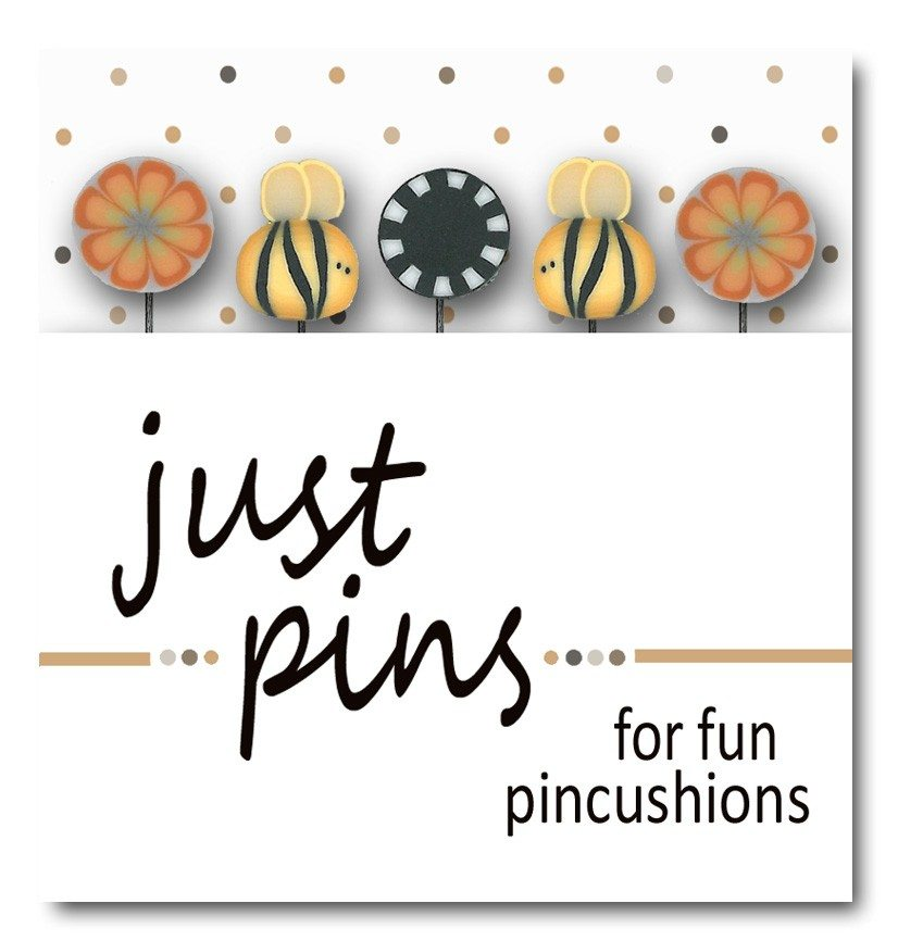 Just another button company pin pack bees and blooms