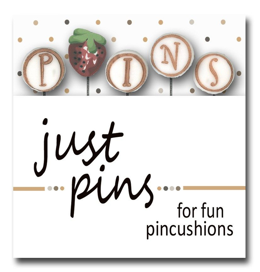 Just Another Button Company pin pack p is for pins strawberry