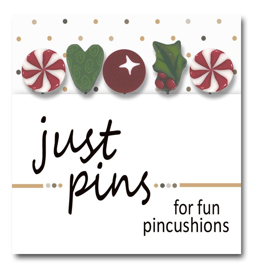 Just Another Button Company pin pack mistletoe holiday