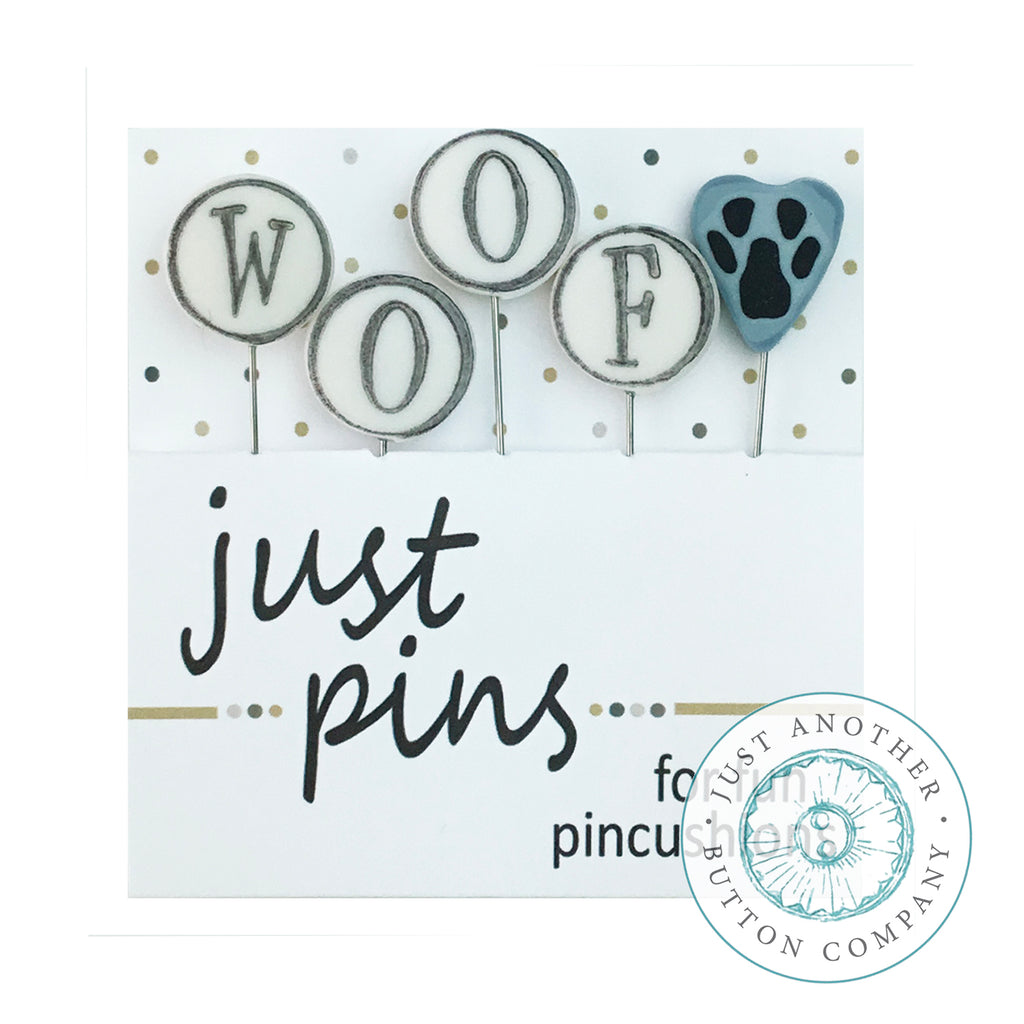 JABC - Just Pins - W is for Woof