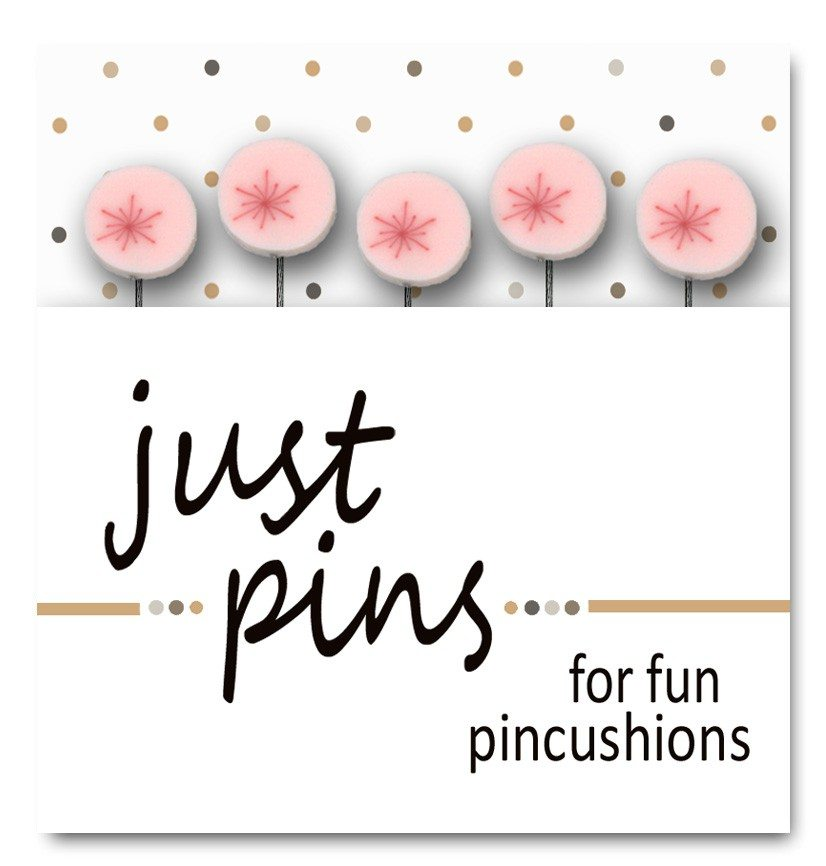 JABC - Just Pins - Just Red Sparkles on Pink