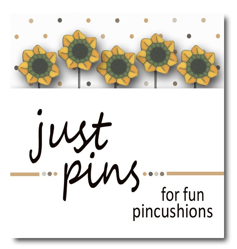 just another button company just pins sunflowers