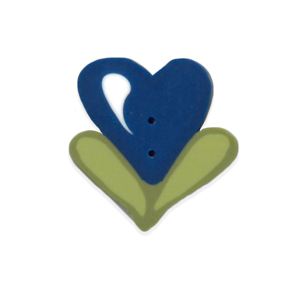 large navy bloom heart
