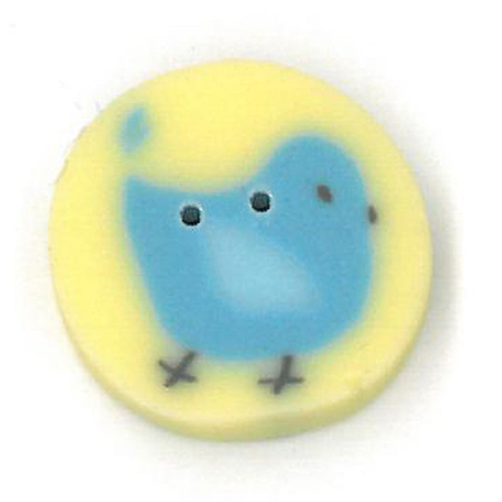 small blue tweet on yellow