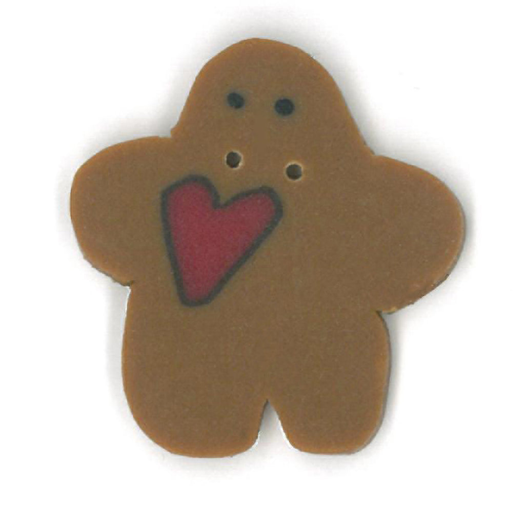 small gingerbread with heart