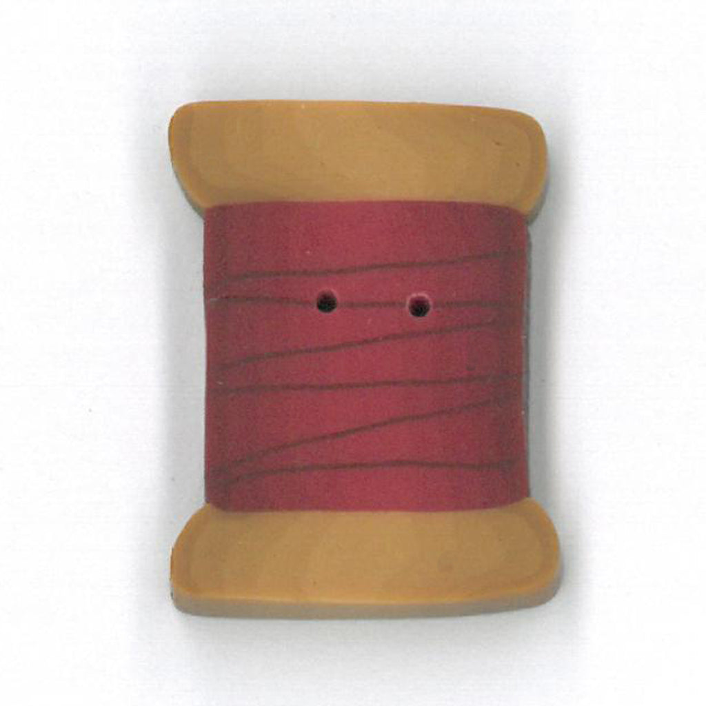 large cherry red spool