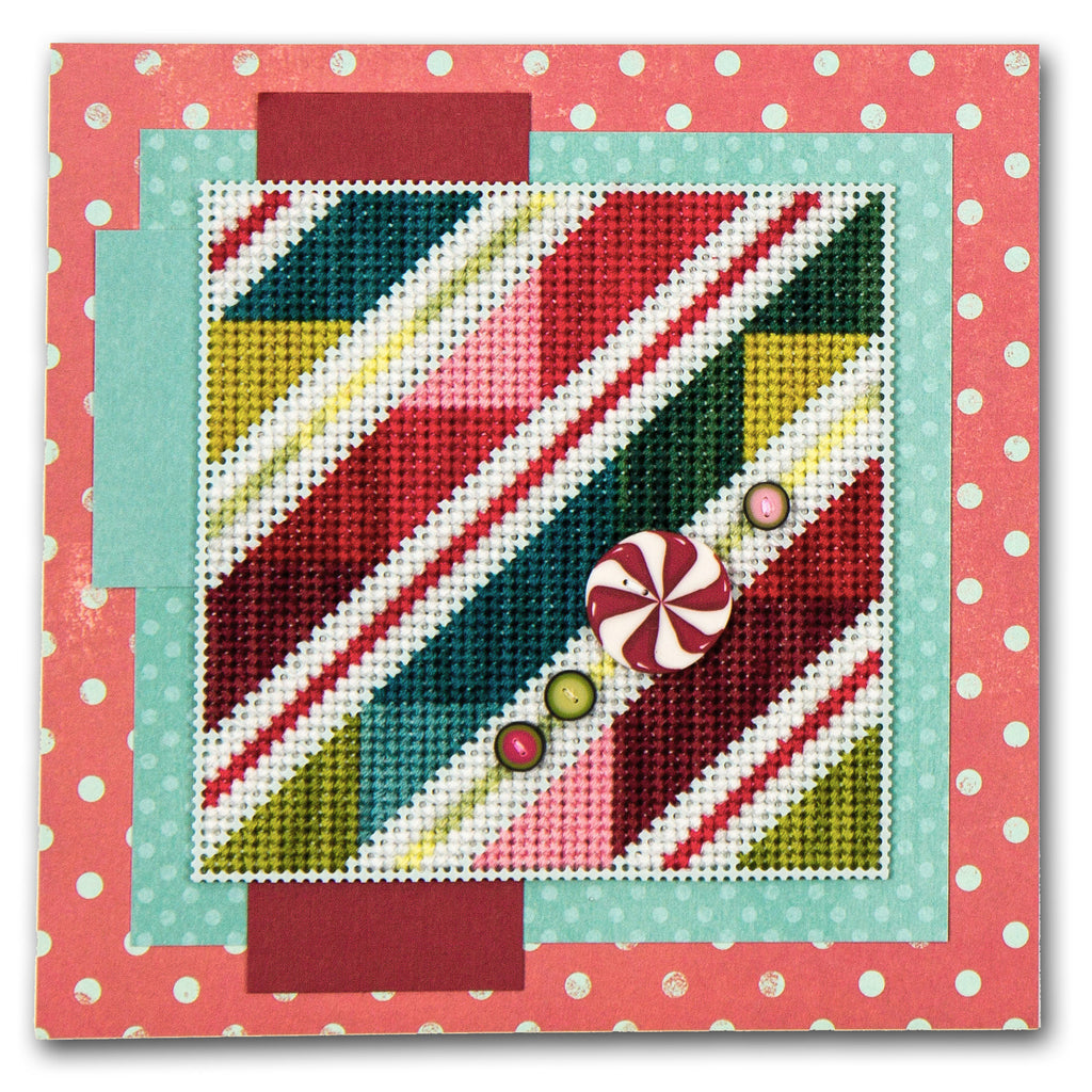 Peppermint Stripes Cross Stitch Chart