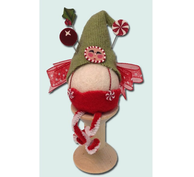 JABC - Pincushion Kit - Mistletoe King Fairy Spoolkeep