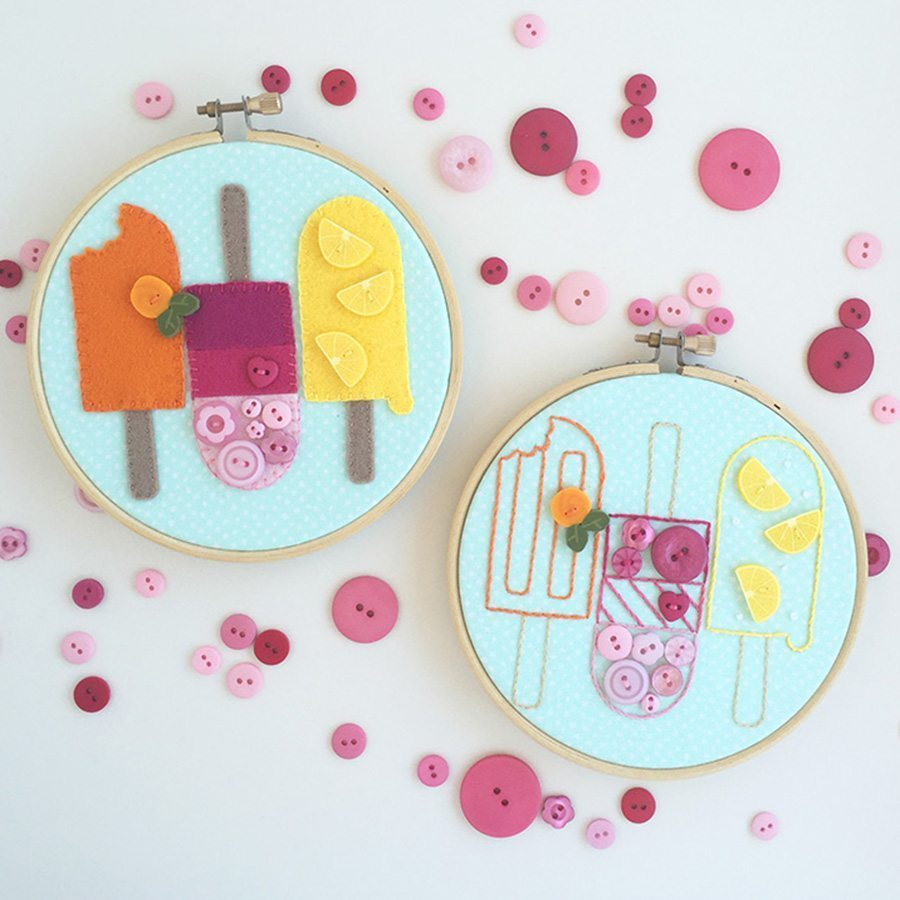 Pretty Popsicles Embroidery & Applique Pattern