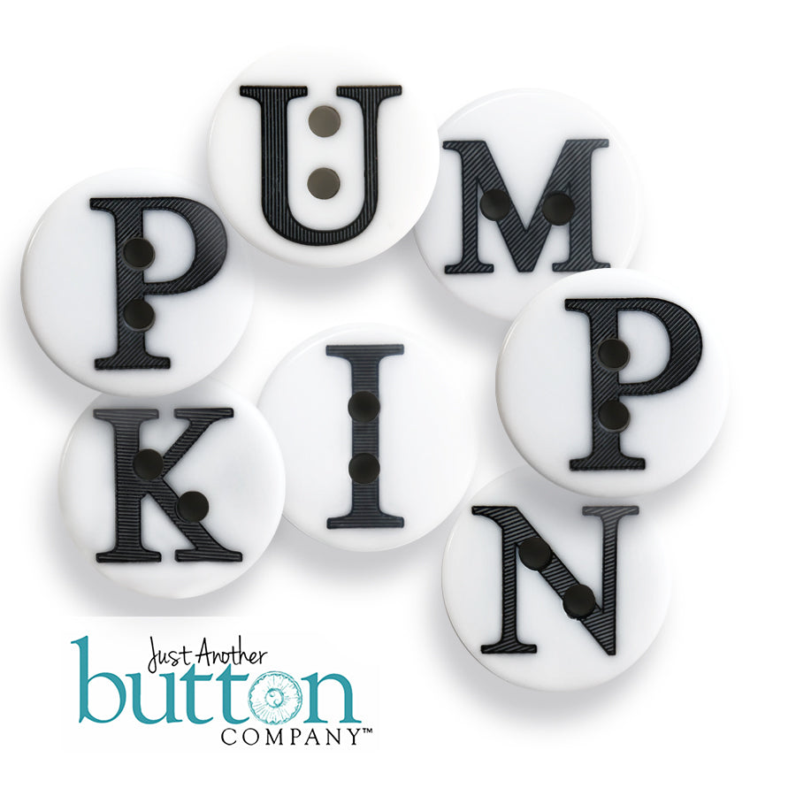 JABC - PUMPKIN alpha button set