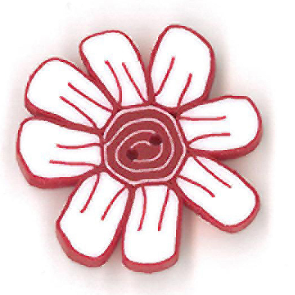 small daisy - red & white