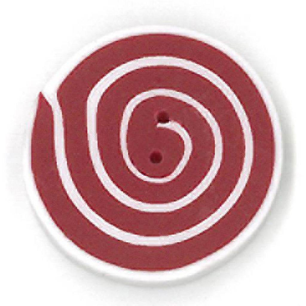 medium swirl - red & white