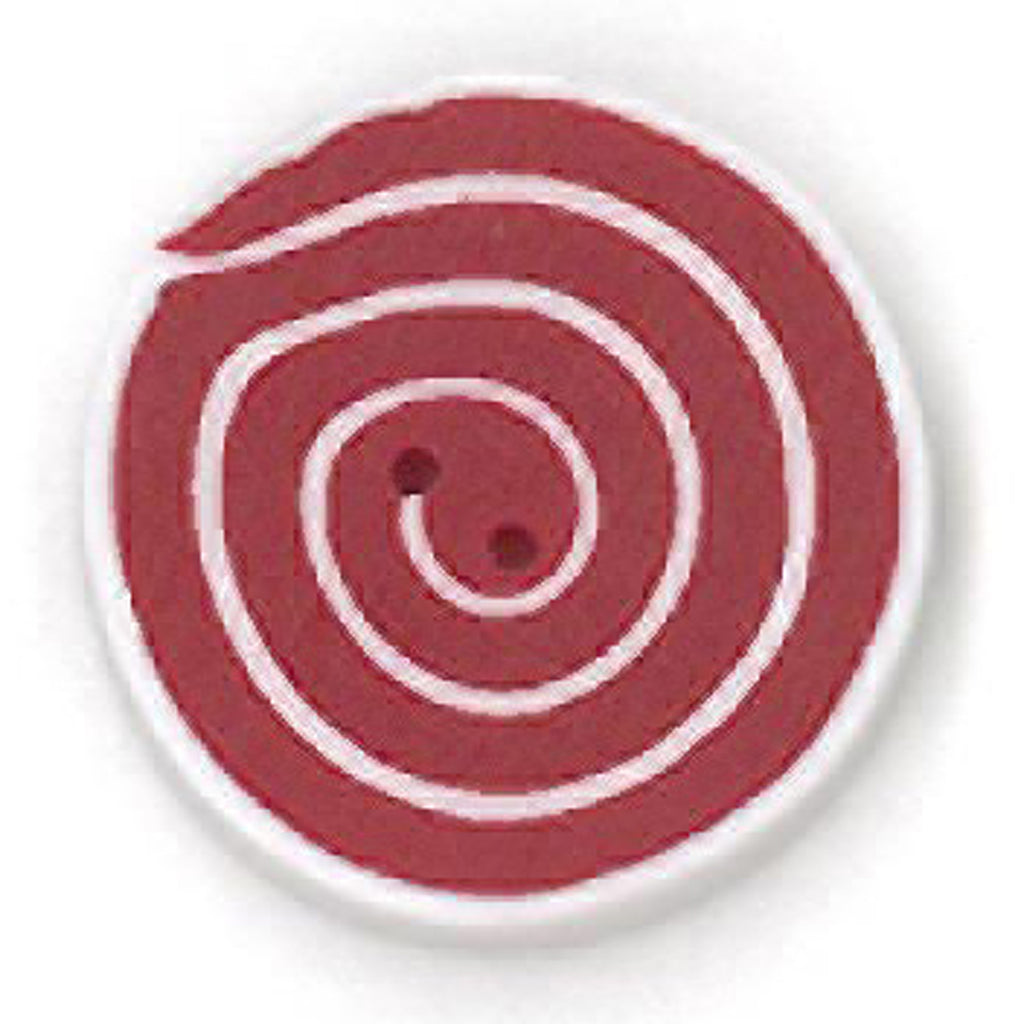 small swirl - red & white