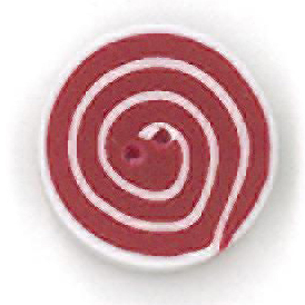 tiny swirl - red & white
