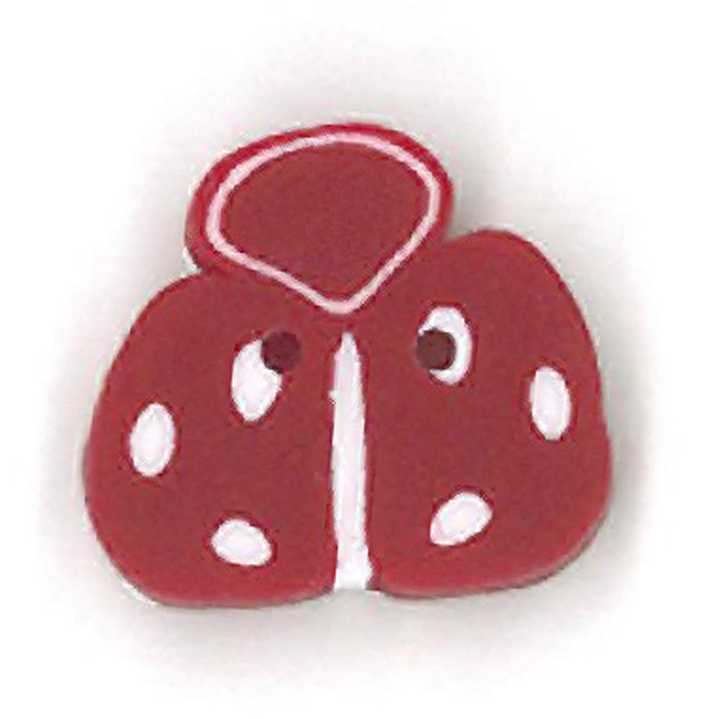 small ladybug - red & white