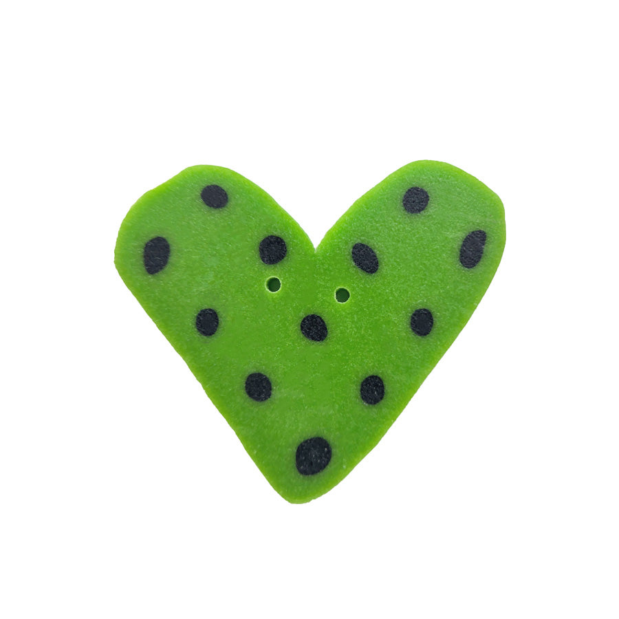 green dot heart