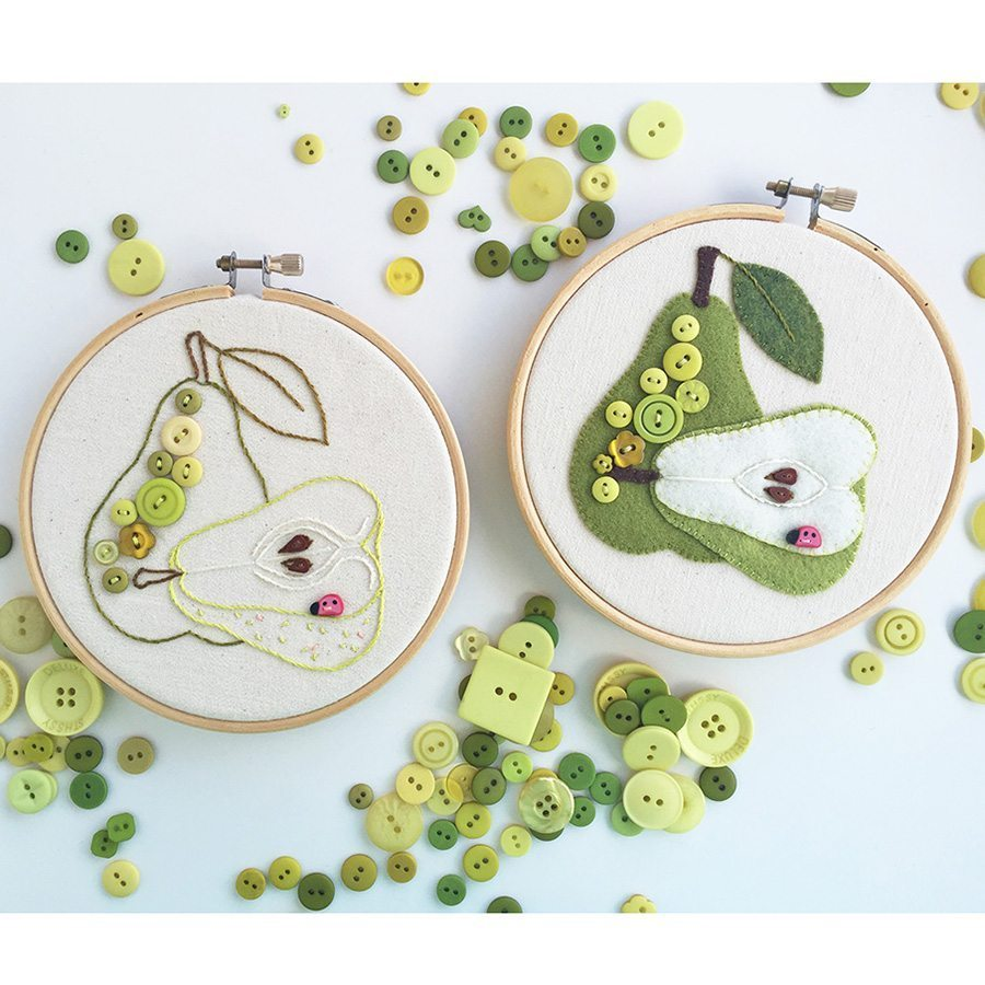 Juicy Pear Embroidery & Applique Pattern