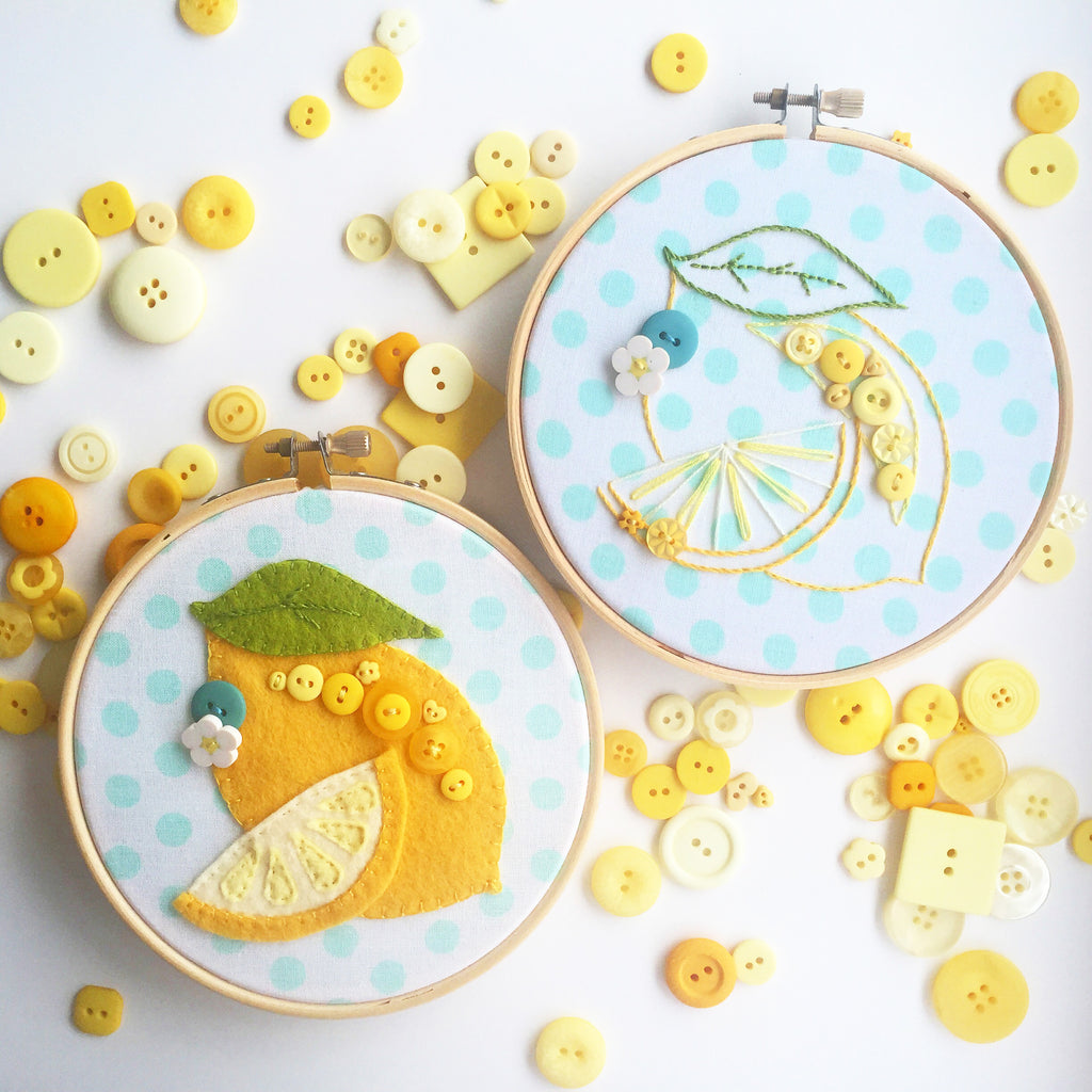 Luscious Lemon Embroidery & Applique Pattern