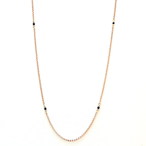 Solid Design Studios McCauley Rose Gold–Filled & Onyx Infinity Necklace