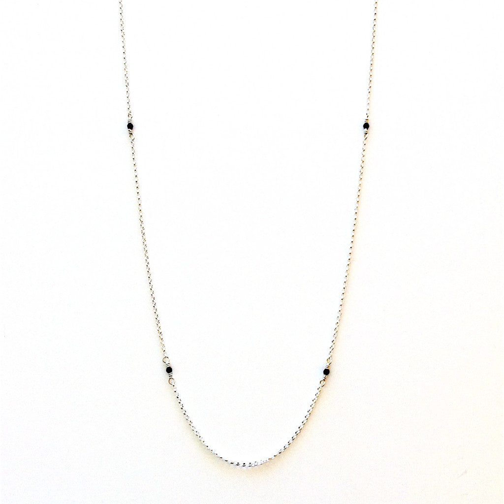 Solid Design Studios McCauley Sterling Silver & Onyx Infinity Necklace