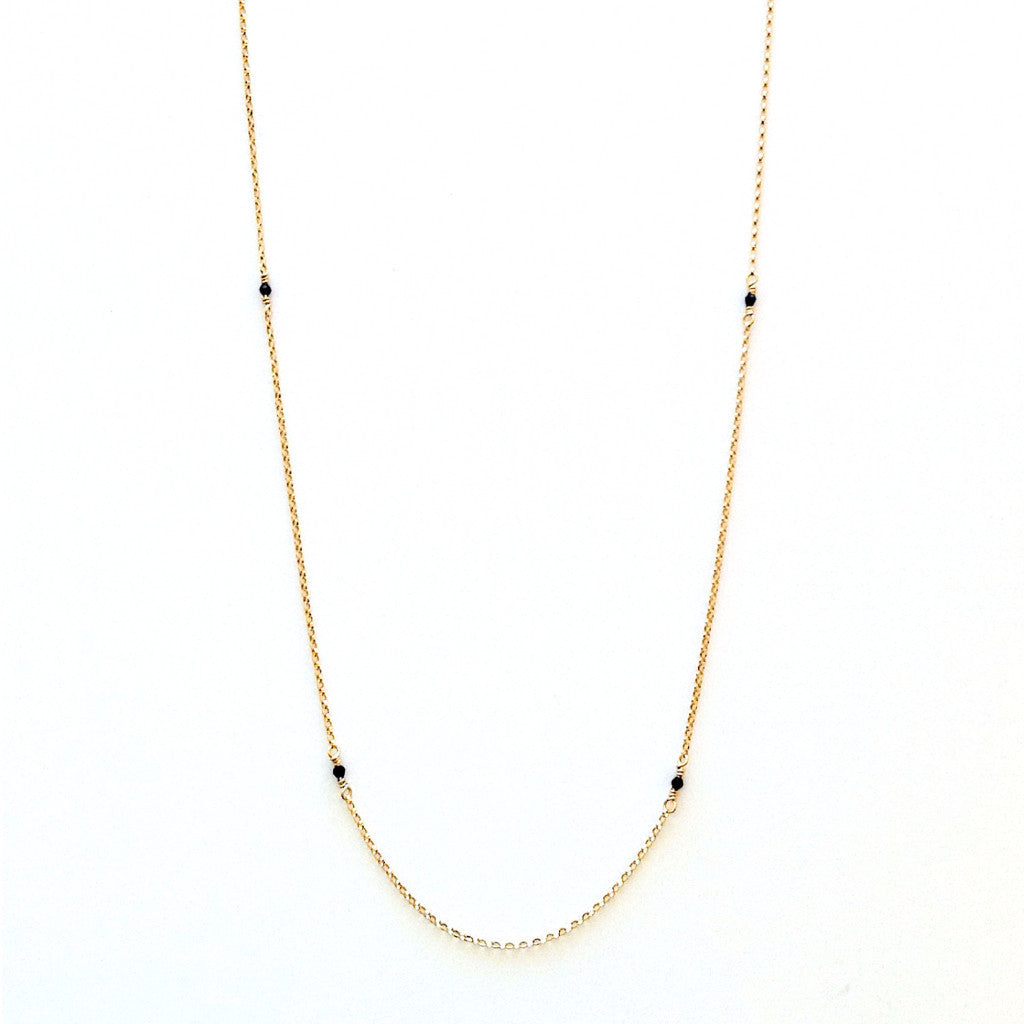 Solid Design Studios McCauley Gold-Filled & Onyx Infinity Necklace