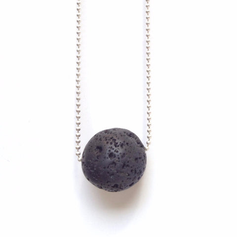 Solid Design Studios Larada Lava Stone & Sterling Silver Necklace