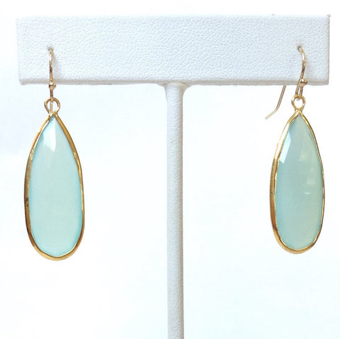 Solid Design Studios Chalcedony Teardrop Earrings