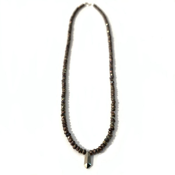 Solid Design Studios Faceted Spinel Necklace With Pyrite Point