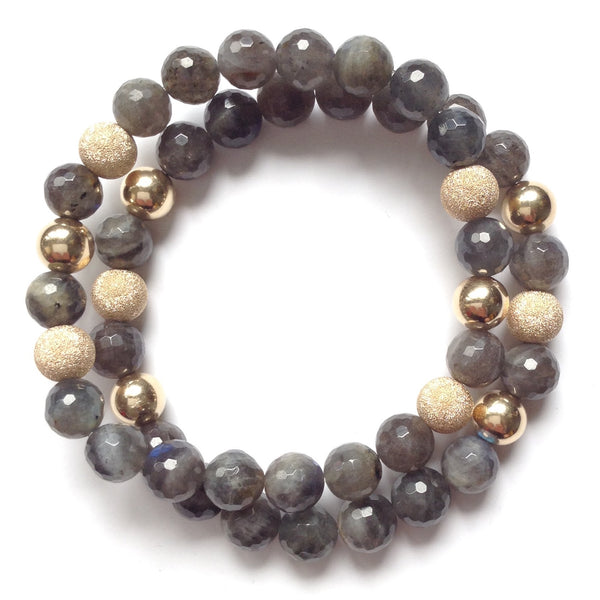 Solid Design Studios Faceted Labradorite & 14k Gold-Filled Stretch Bracelet II