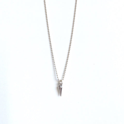 Solid Design Studios Dainty Sterling Silver Spike Necklace