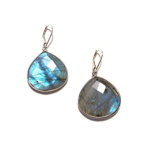Solid Design Studios Labradorite Bezeled Drop Earrings