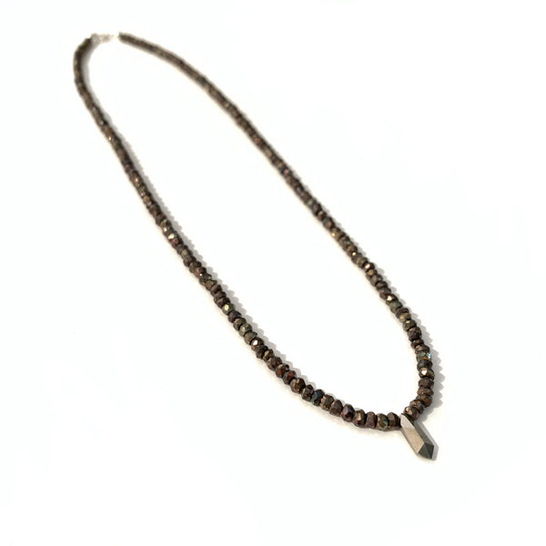Solid Design Studios Spinel Necklace With Pyrite Point