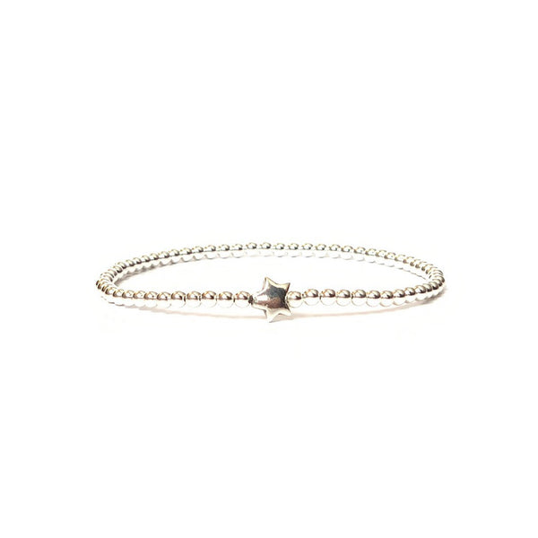 Solid Design Studios Sterling Silver Star Stretch Bracelet
