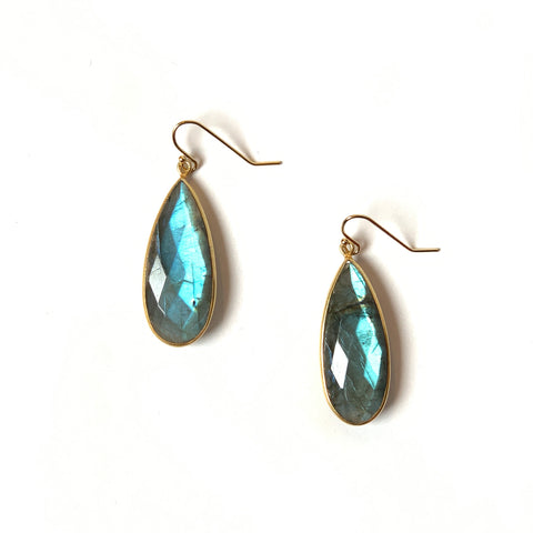 Labradorite Teardrop Earrings - Wholesale