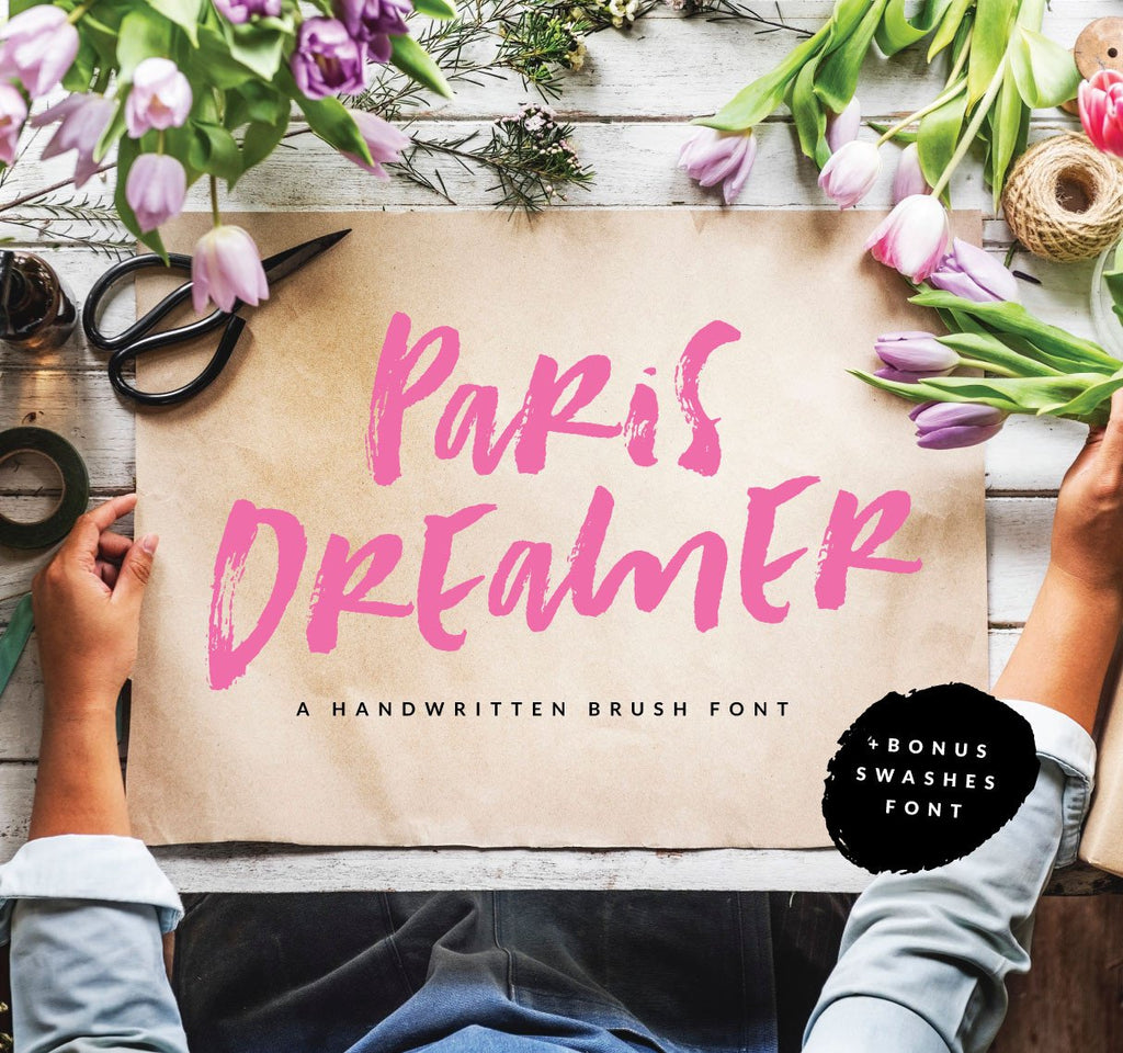 Introducing the Paris Dreamer Font in our Fonts Collection!