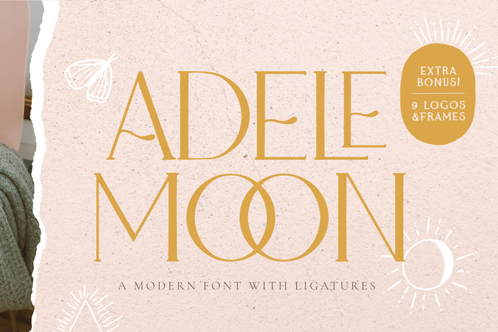 My first Serif font! Adele Moon!